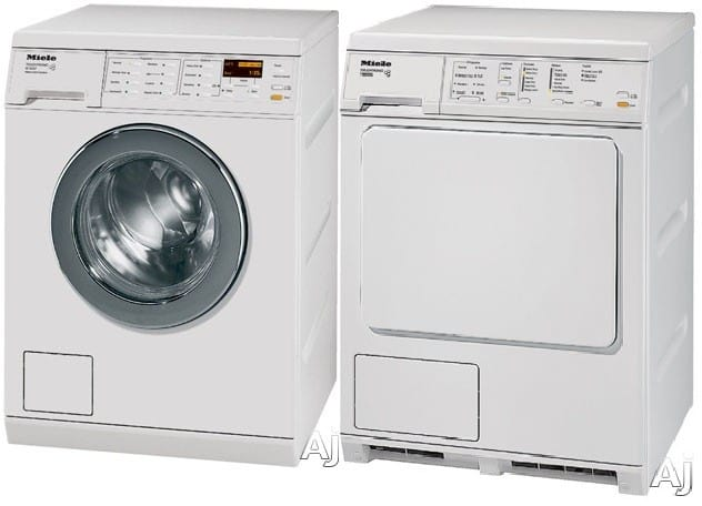miele miwadrew30481 side by side washer dryer set with. Black Bedroom Furniture Sets. Home Design Ideas