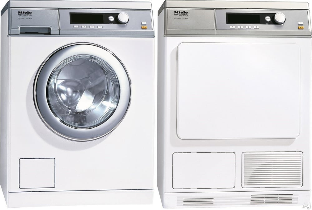 miele miwadrew46068 side by side washer dryer set with. Black Bedroom Furniture Sets. Home Design Ideas