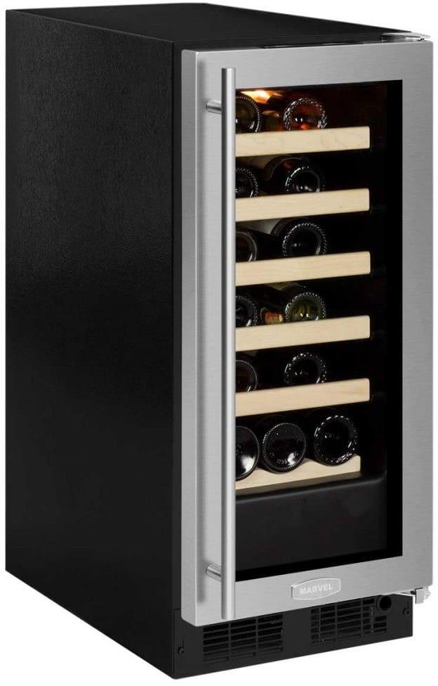 Marvel Ml15wsg0ls 15 Inch Single Zone Wine Refrigerator