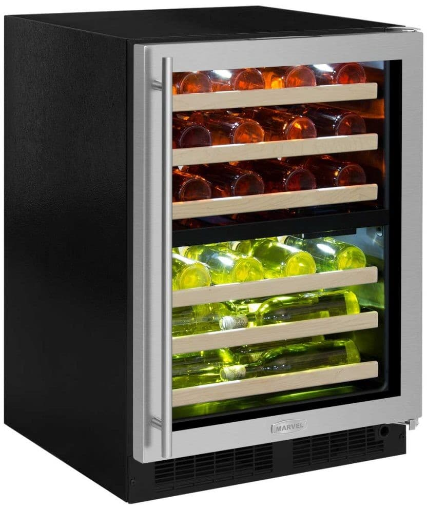 Infinity Wine Coolers: Marvel ML24WDG3RB 24 Inch Built-In Dual Zone Wine