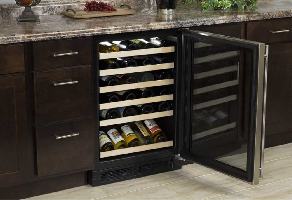 Marvel Ml24wsg3rs 24 Inch Built In Single Zone Wine Refrigerator
