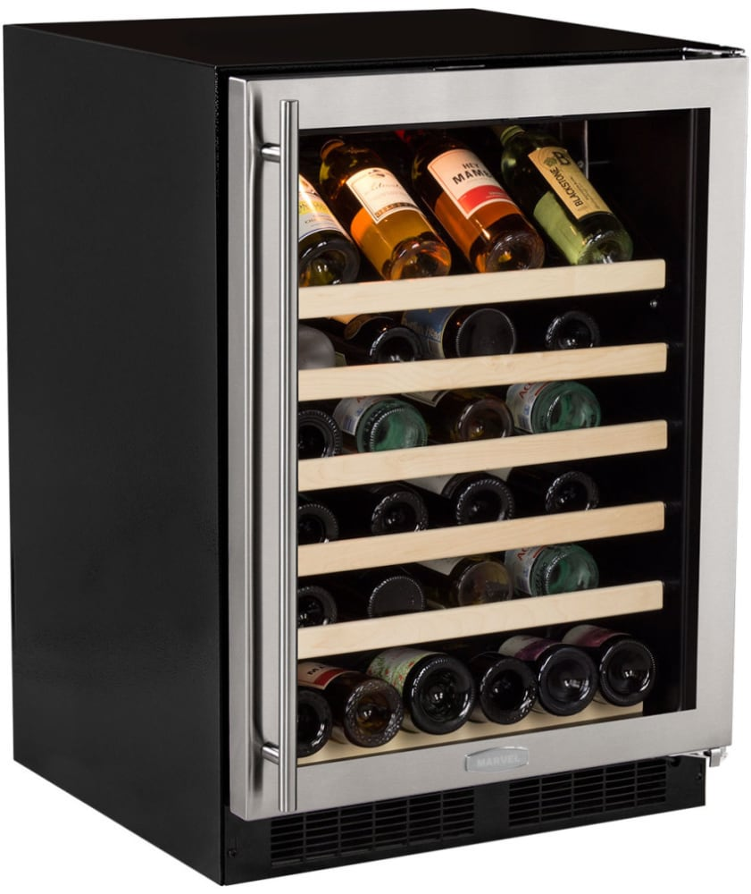 marvel ml24wsg0rs 24 inch built in single zone wine refrigerator with 45 bottle capacity uv