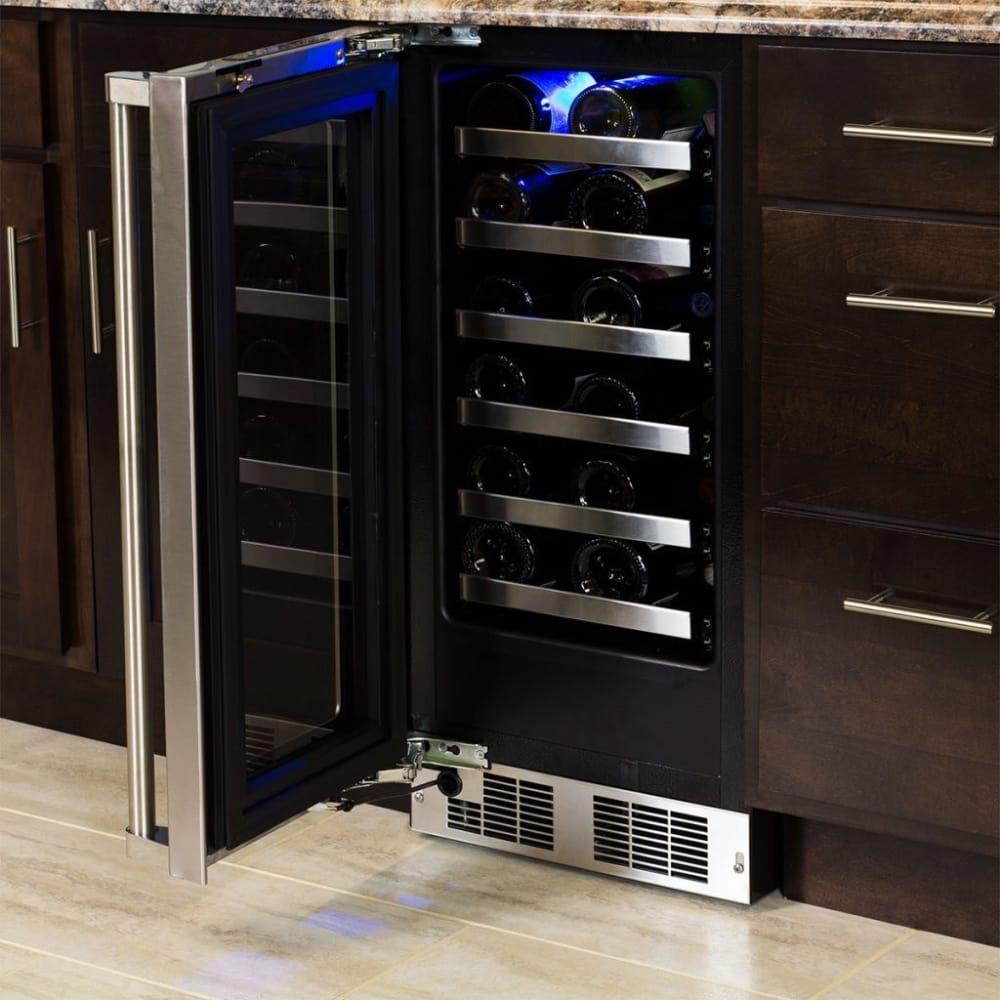 Marvel Mp15wsf4lp 14 Inch Single Zone Wine Refrigerator