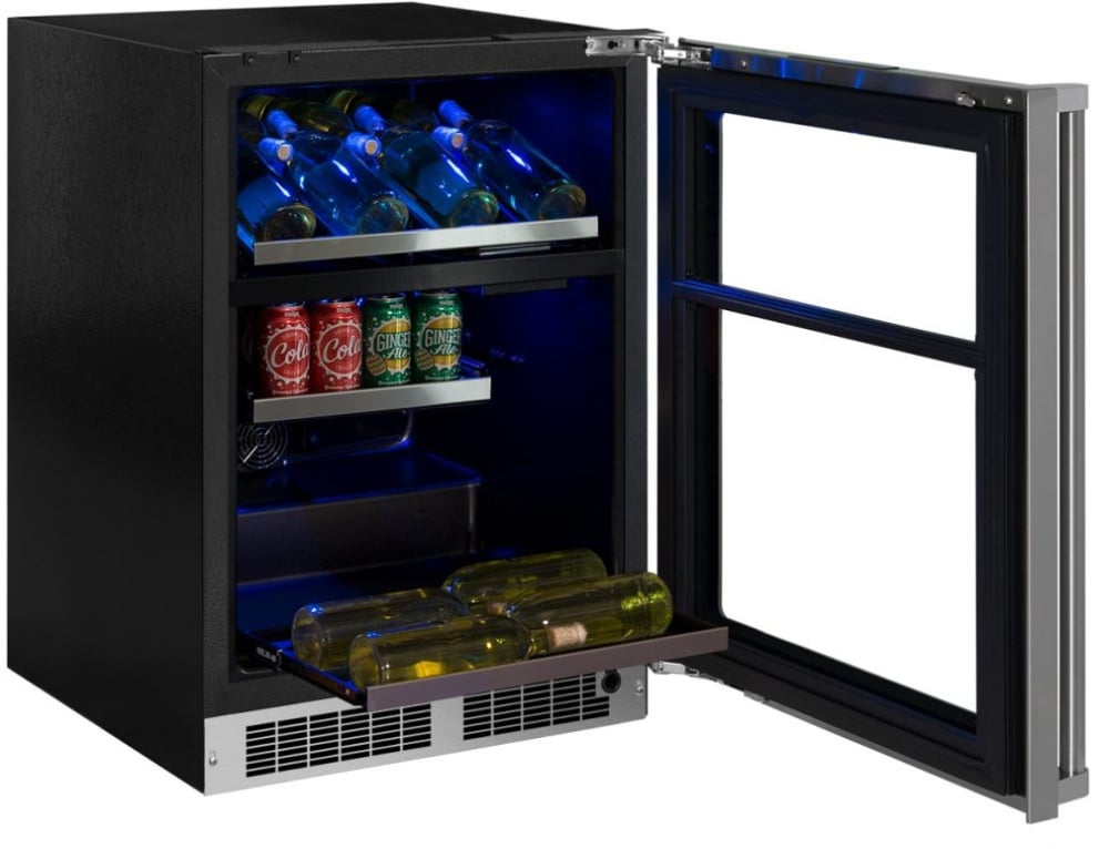 Marvel MP24WBG4LS 24 Inch Dual Zone Wine and Beverage Center with ...