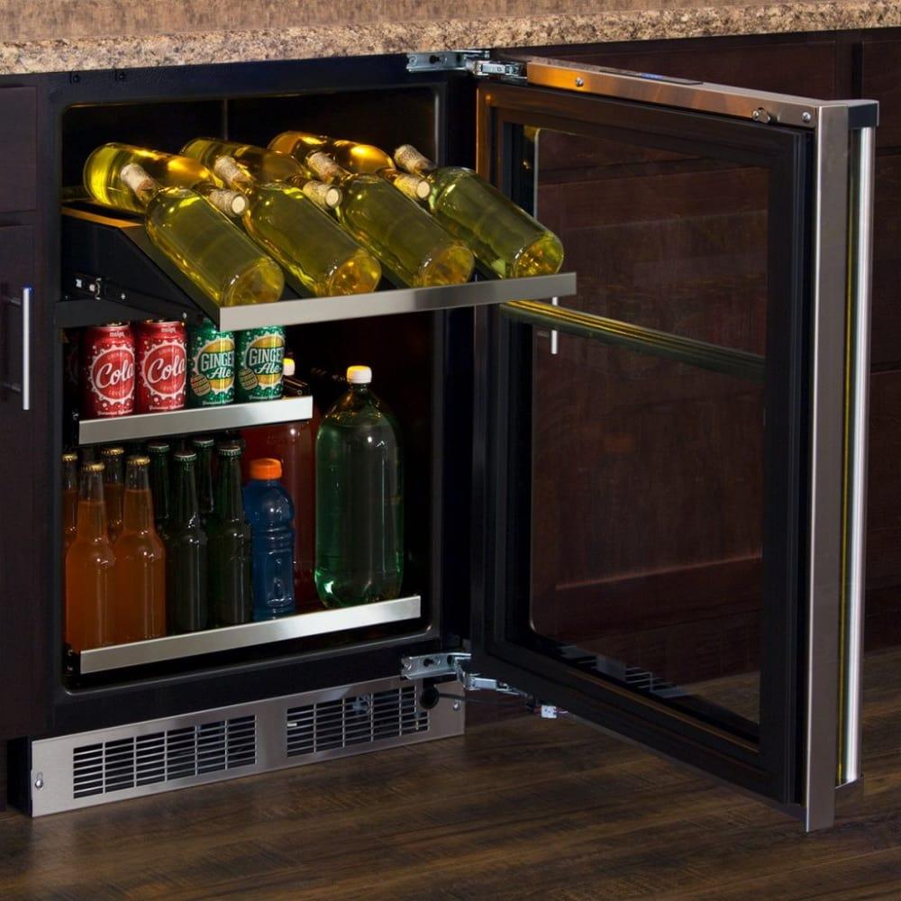 marvel series mp24wbg4ls wine and beverage center stainless frame model shown here - Beverage Center