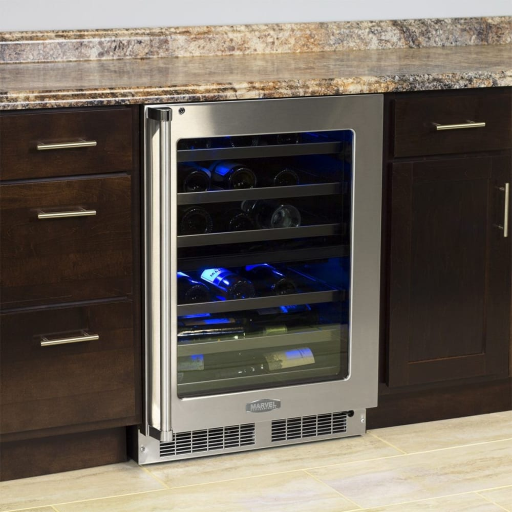 countertop wine silent wood coolers with cooler shelves p touchscreen black bottle enthusiast