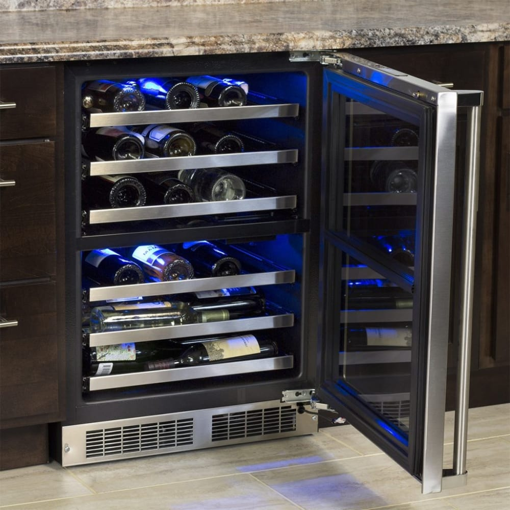 Marvel Mp24wdg5ls 24 Inch Dual Zone Wine Refrigerator With