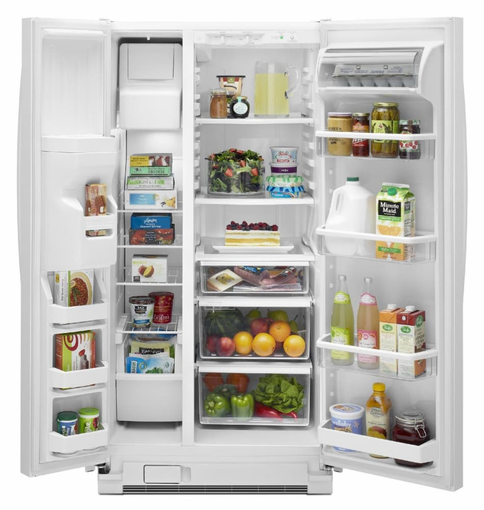 Maytag MSF22D4XAW 22 cu. ft. Side by Side Refrigerator with Spill ...