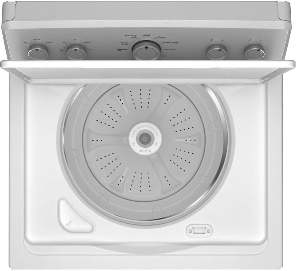 Maytag Mvwc415ew 28 Inch 3 6 Cu Ft Top Load Washer With 11 Wash Cycles 800 Rpm Powerwash Cycle Wrinkle Control Deep Water Wash Cycle Automatic Load Size Sensing Technology Powerwash Agitator And