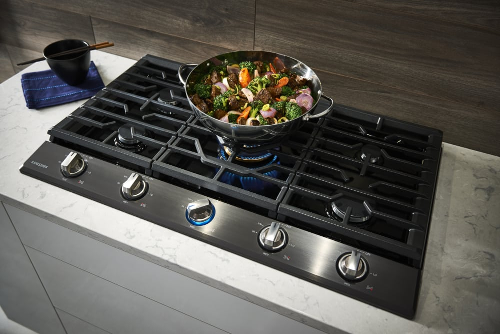 Samsung Na36k7750t 36 Inch Gas Cooktop With 5 Sealed