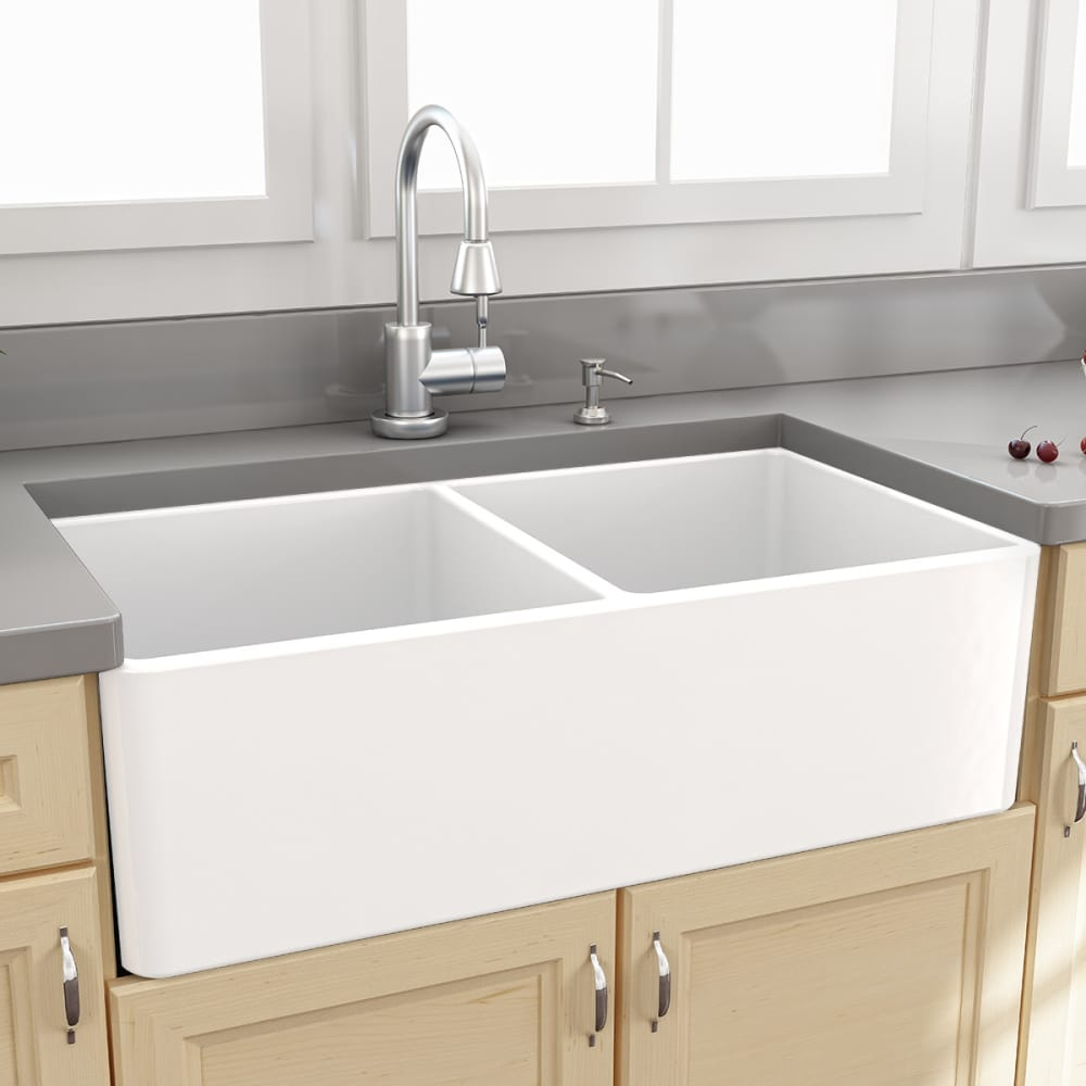 ... Nantucket Sinks Cape Collection TFCFS33   Fireclay Farmhouse Sink From  Nantucket