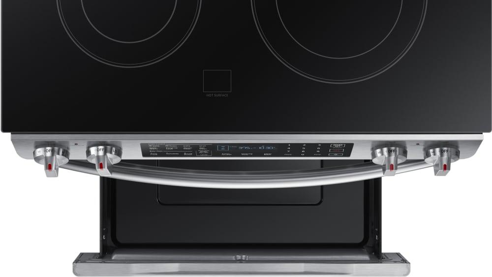 samsung ne58k9430ss 30 inch slide in electric range with 5 smoothtop elements 5 8 cu ft dual. Black Bedroom Furniture Sets. Home Design Ideas