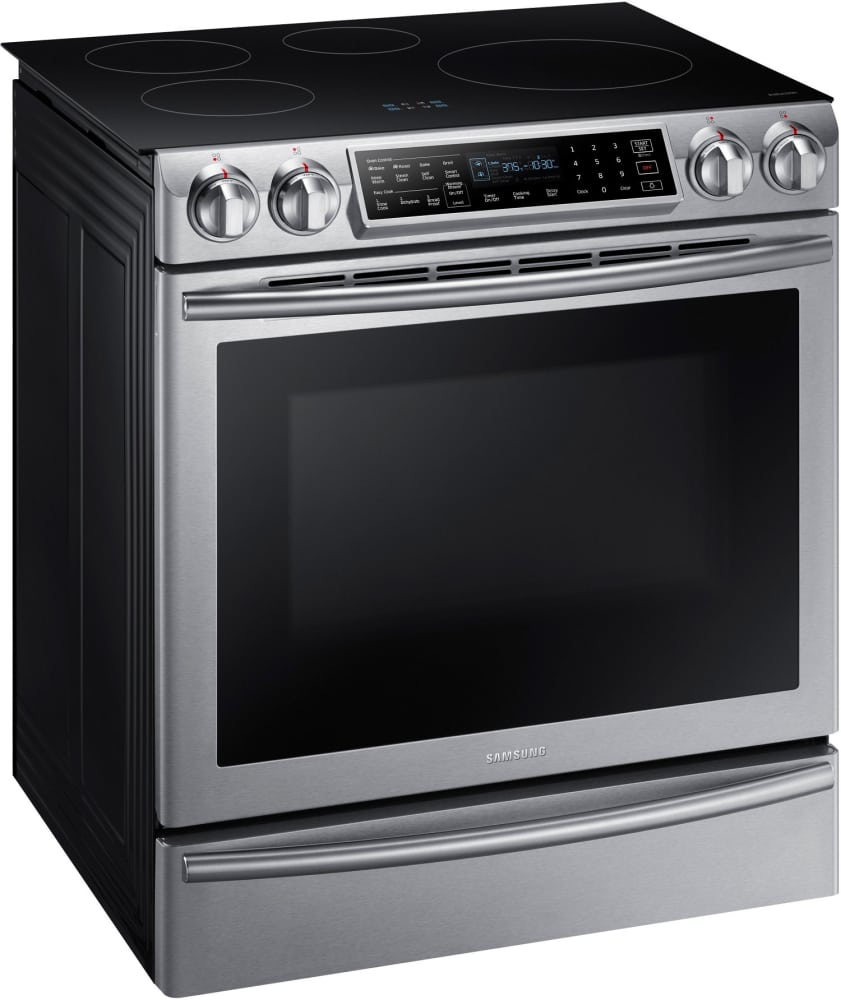 Slide In Induction Range With Virtual Flame Samsung NE58K9560WS   The Slide In  Design Blends Seamlessly With Your Kitchen For A Modern ...