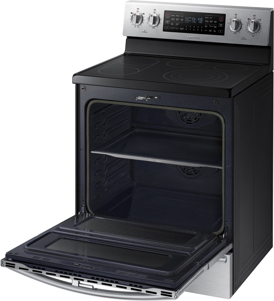 Electric Oven Open ~ Samsung ne j ws inch freestanding electric range