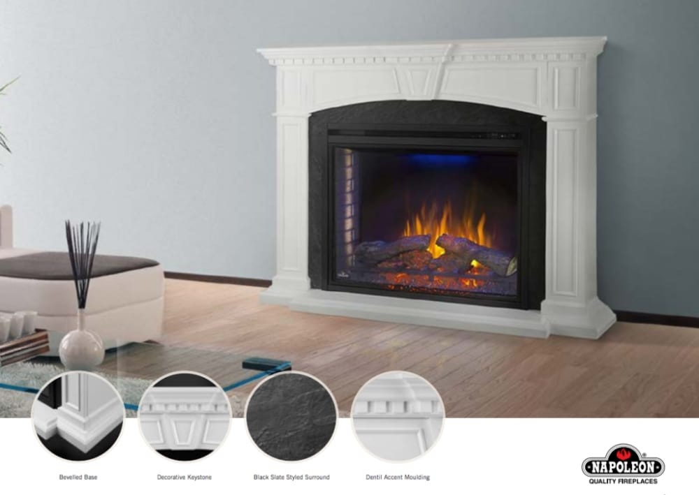 napoleon fireplace mantel series nefp330214w product overview - Napoleon Fireplaces