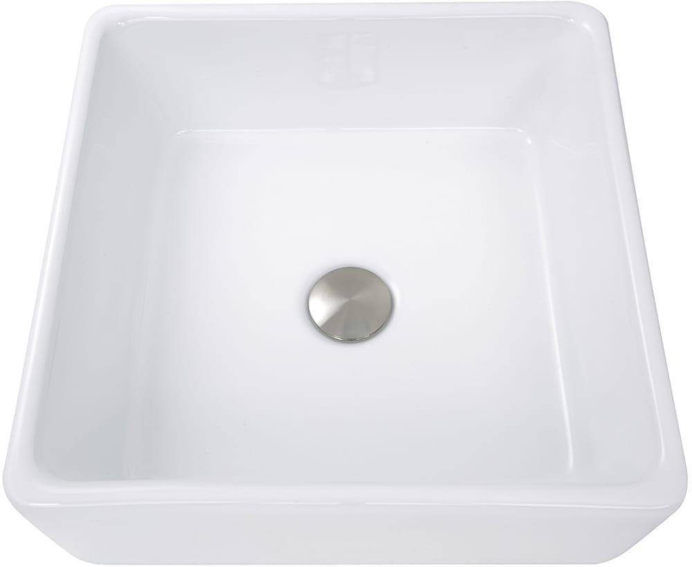 Nantucket Sinks NSV107A 15 Inch Top Mount Bathroom Sink ...