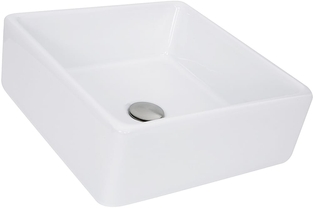 Nantucket Sinks NSV107A 15 Inch Top Mount Bathroom Sink ...