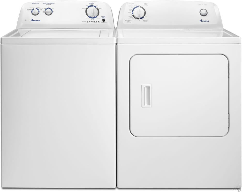 Amana Amwadrew1 Side By Side Washer Amp Dryer Set With Top