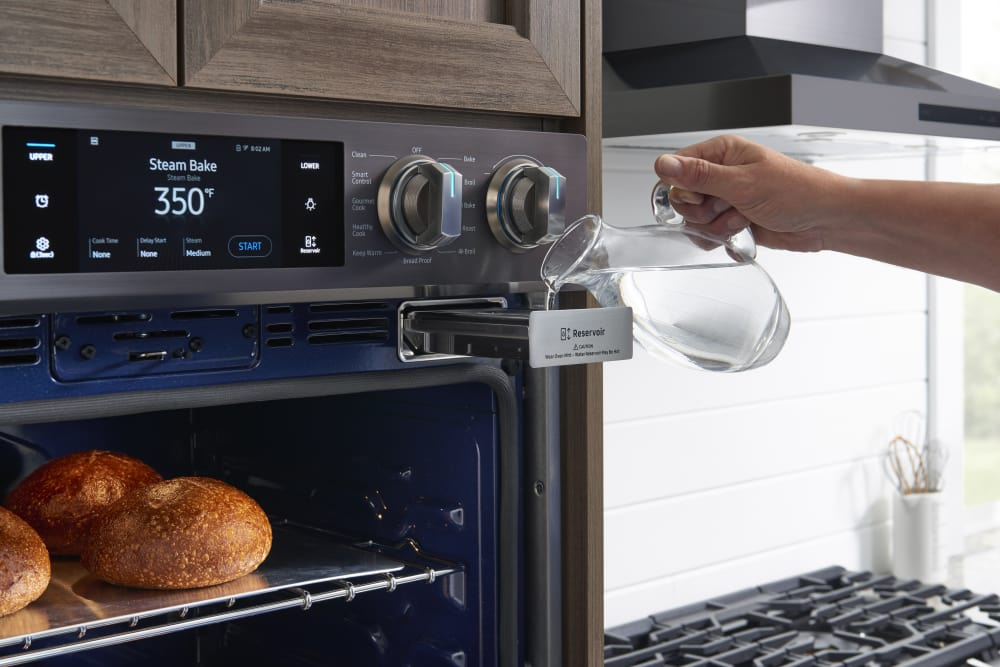Oven From Samsung Nv51k7770dg Reservoir For Steam Cooking