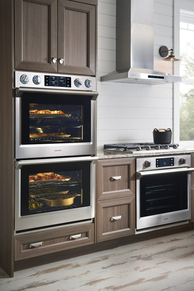 Double Wall Ovens ~ Samsung nv k ds inch electric double wall oven with