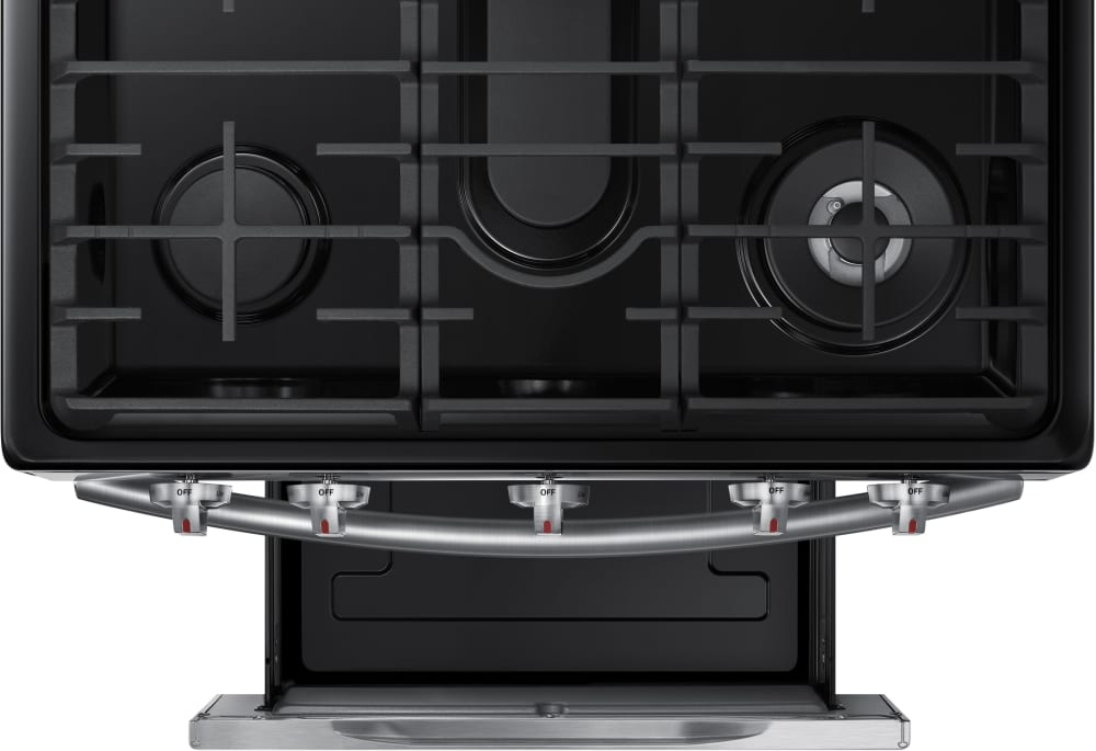 Viking Gas Cooktop >> Samsung NX58J7750SS 30 Inch Flex Duo Gas Range with 5.8 cu. ft. Oven Capacity, 5 Sealed Burners ...