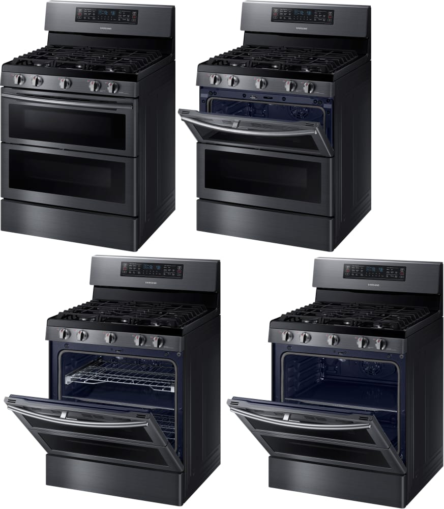 samsung nx58k7850sg 30 inch flex duo gas range with dual doors 5 8 cu ft oven capacity 5. Black Bedroom Furniture Sets. Home Design Ideas