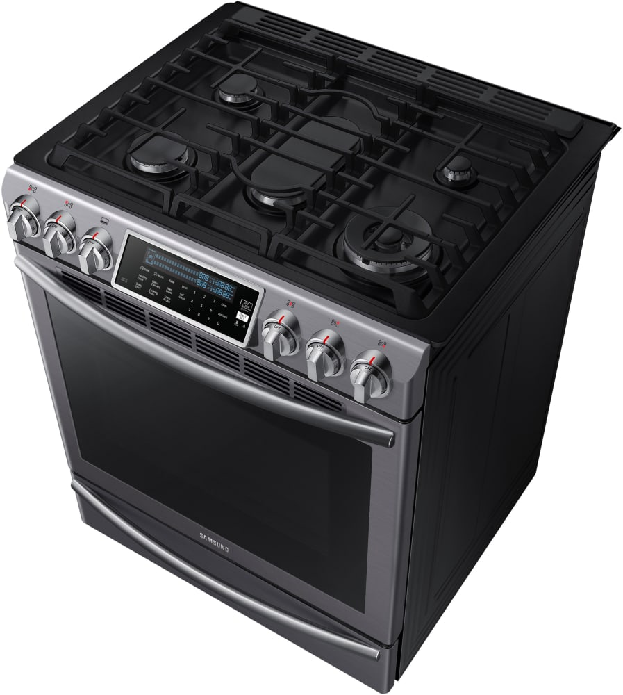 Samsung Nx58k9500wg 30 Inch Slide In Gas Range With True