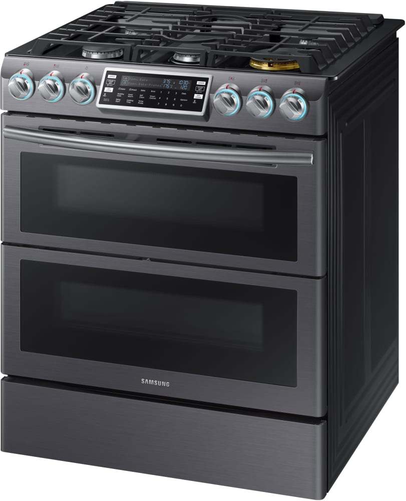 samsung nx58k9850sg 30 inch flex duo slide in gas range with dual convection wi fi. Black Bedroom Furniture Sets. Home Design Ideas