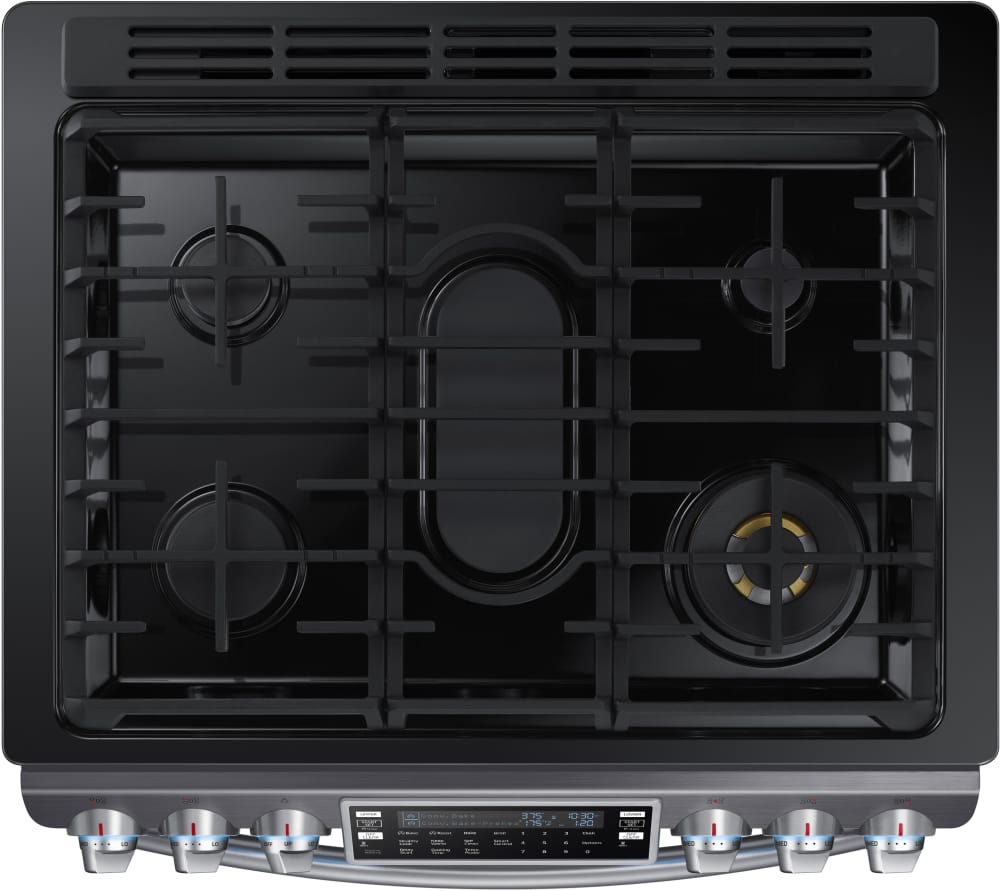 Samsung Nx58k9850sg The Gas Cooktop Provides A Total Output Of 61 000 Btus And Includes Front