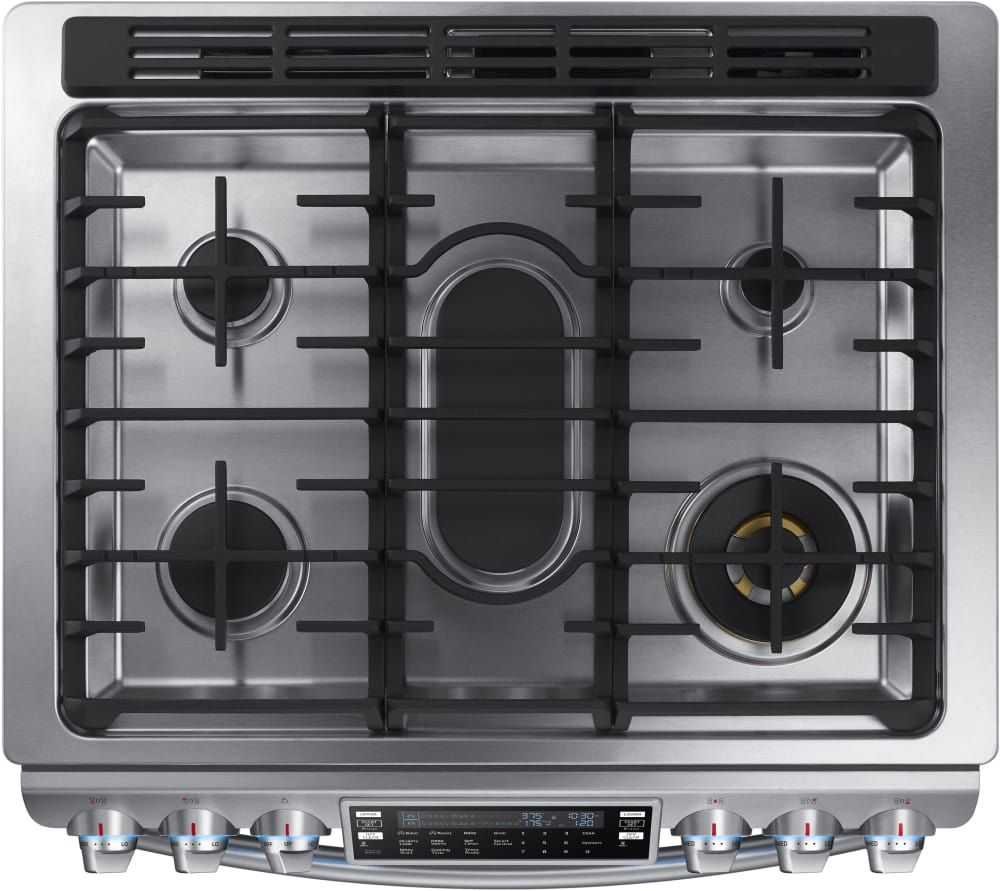 Samsung Nx58k9850ss 30 Inch Flex Duo Slide In Gas Range