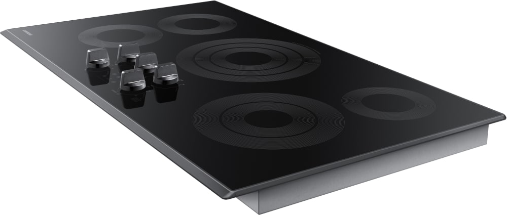Samsung 36 Black Stainless Steel Electric Smoothtop Stovetop Cooktop NZ36K6430RG