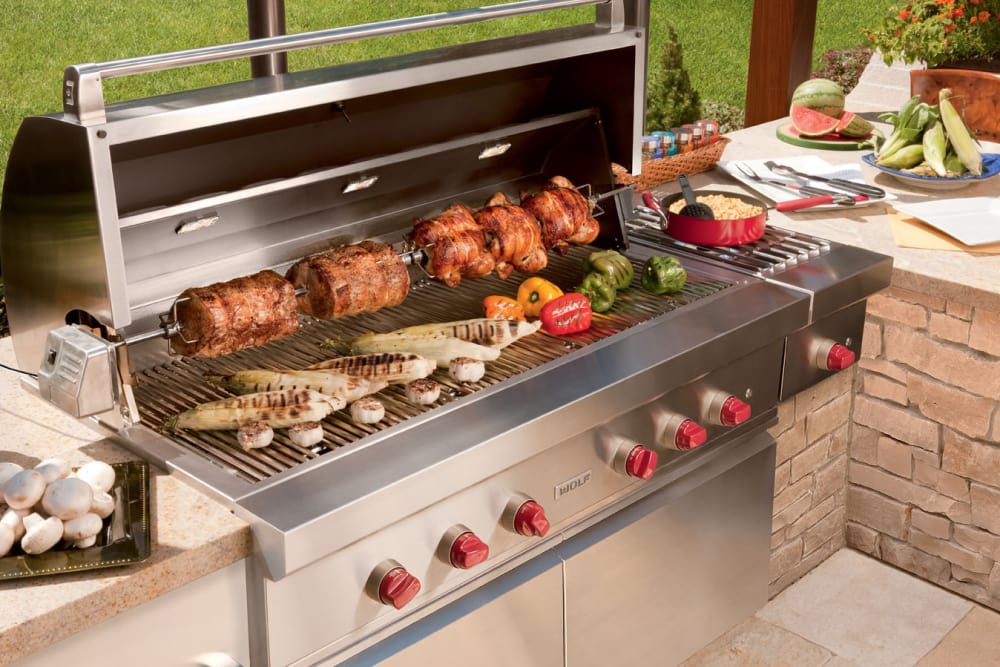 Wolf OG54LP 54 Inch Built-in Gas Grill with 25,500 BTU ...