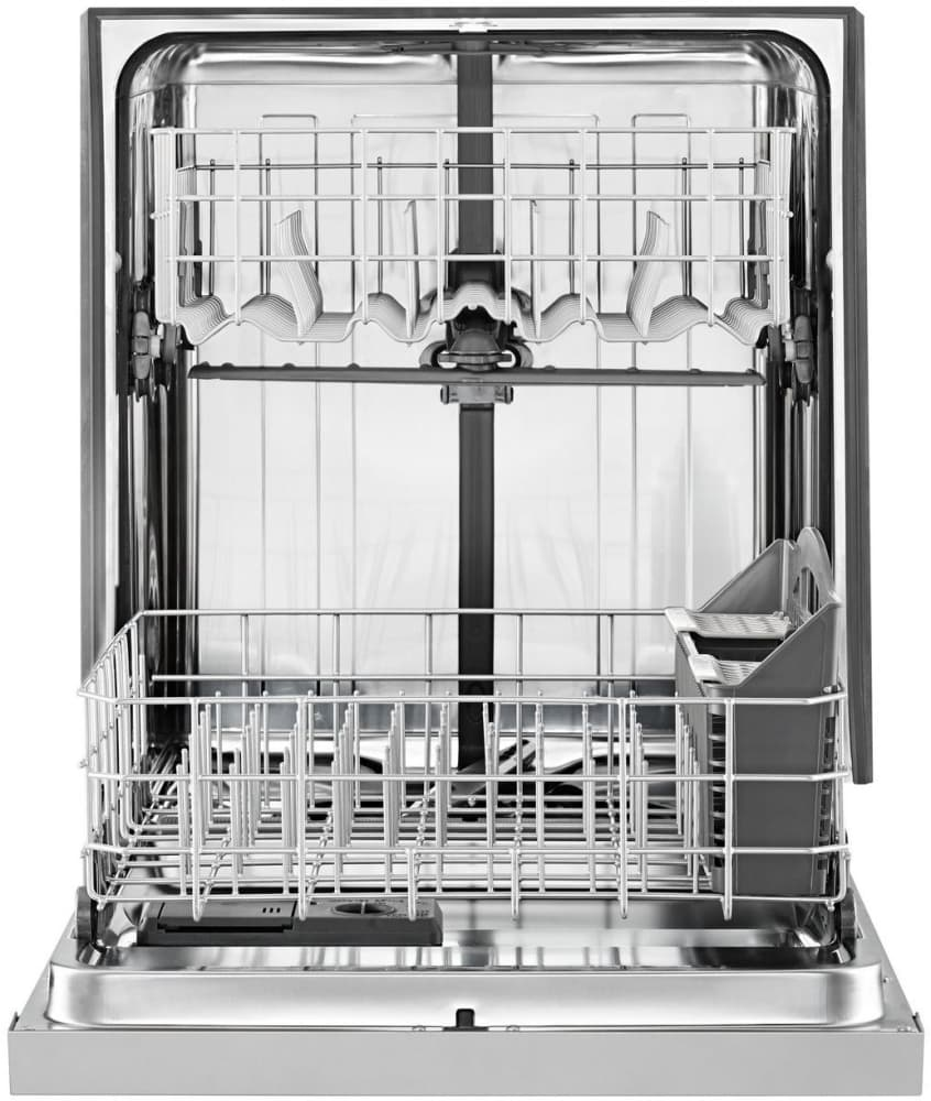 Whirlpool Wdf560safm 24 Inch Built In Full Console Dishwasher With Electrical Diagram Monochromatic Stainless Steel Interior View