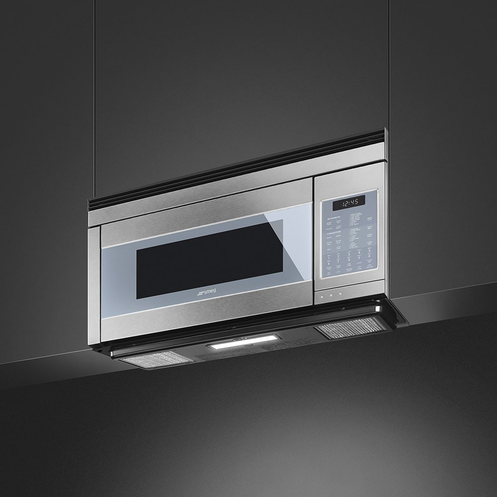 30 Inch Over The Range Microwave Convection Oven: Smeg OTR111SU 30 Inch Over The Range Microwave With Sensor