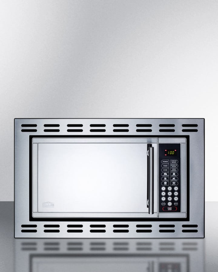 Summit otr24 24 inch built in microwave oven with 900 for Built in microwave 24 inches wide
