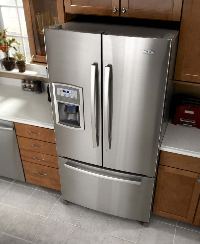 Whirlpool Gold French Door Refrigerator Reviews Part - 31: Whirlpool Gold GI0FSAXVY - Monochromatic Stainless Steel Whirlpool Gold  GI0FSAXVY - Lifestyle View ...