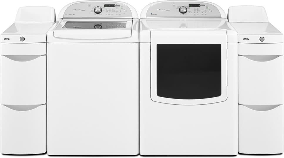 Whirlpool Cabrio Wgd7600xw Laundry Pair With Storage Towers