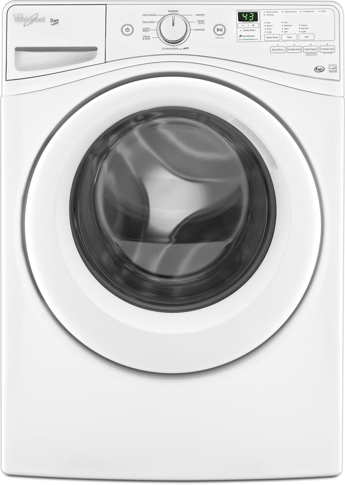 Whirlpool wfw81hedw 27 inch 42 cu ft front load washer with 9 whirlpool duet wfw81hedw front view sciox Gallery