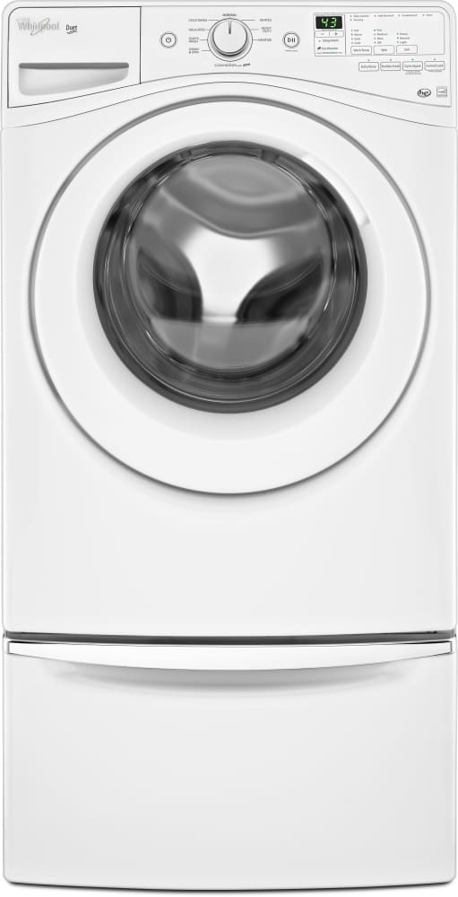 Whirlpool wfw81hedw 27 inch 42 cu ft front load washer with 9 whirlpool duet wfw81hedw front with pedestal sciox Gallery