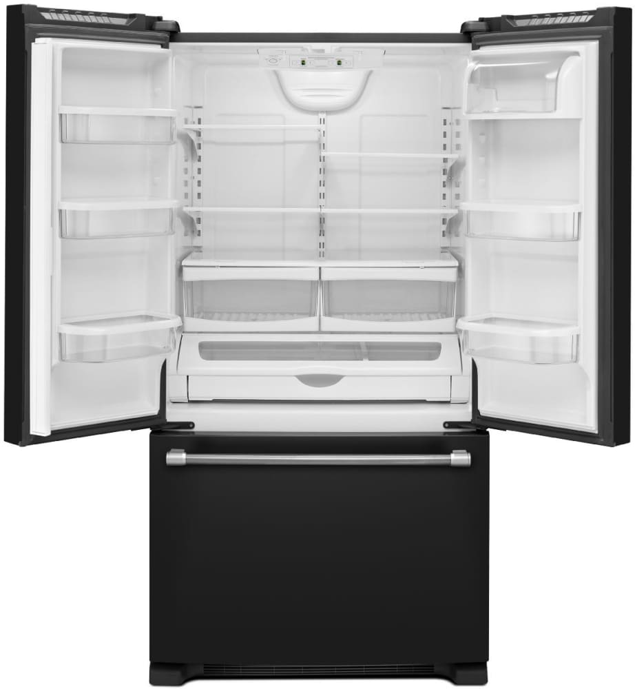 Maytag mff2258dee 220 cu ft french door refrigerator with 4 maytag heritage series mff2258dee open view rubansaba