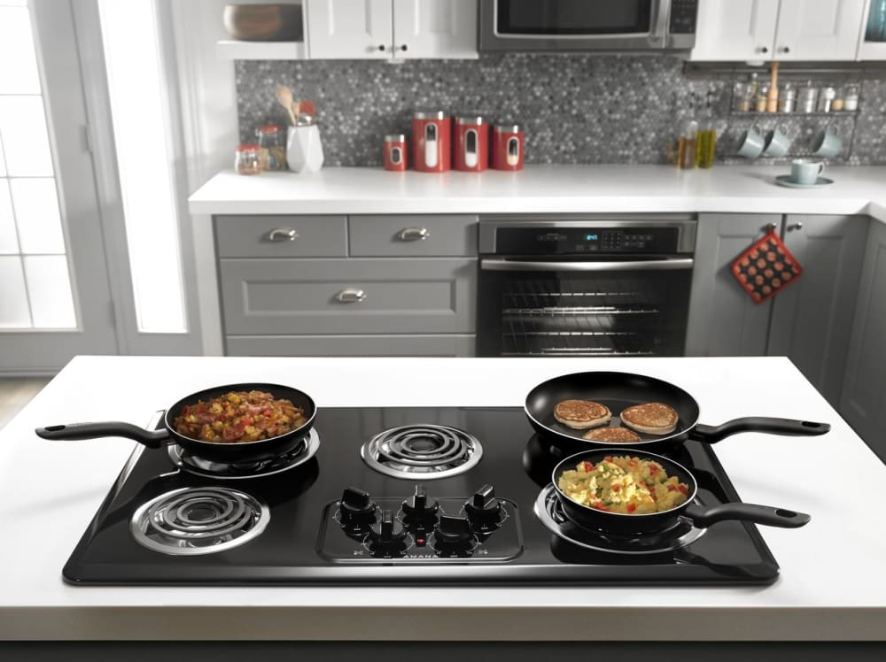 Amana Acc6356kfb 36 Inch Electric Cooktop With 5 Heating