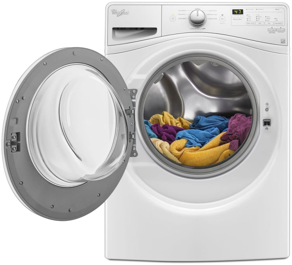 Whirlpool WFW75HEFW 27 Inch Front Load Washer with Steam Technology ...