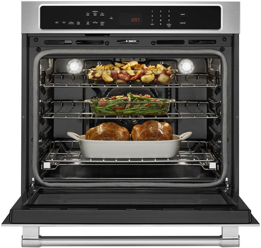 Open Oven In Kitchen: Maytag MEW9530FZ 30 Inch Electric Wall Oven With 5.0 Cu