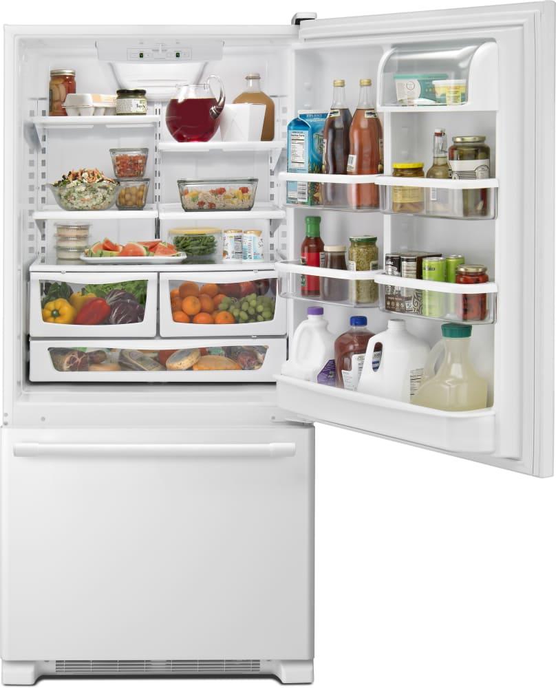 Maytag MBF2258FEW 33 Inch Bottom-Freezer Refrigerator with 22 cu. ft on
