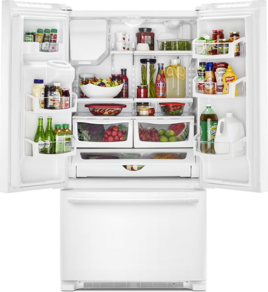 Maytag MFI2570FEW 36 Inch French Door Refrigerator with 25 cu. ft ...