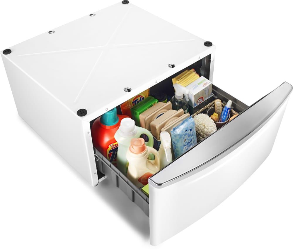 Whirlpool Xhpc155xw 155 Inch Height Laundry Pedestal With Storage