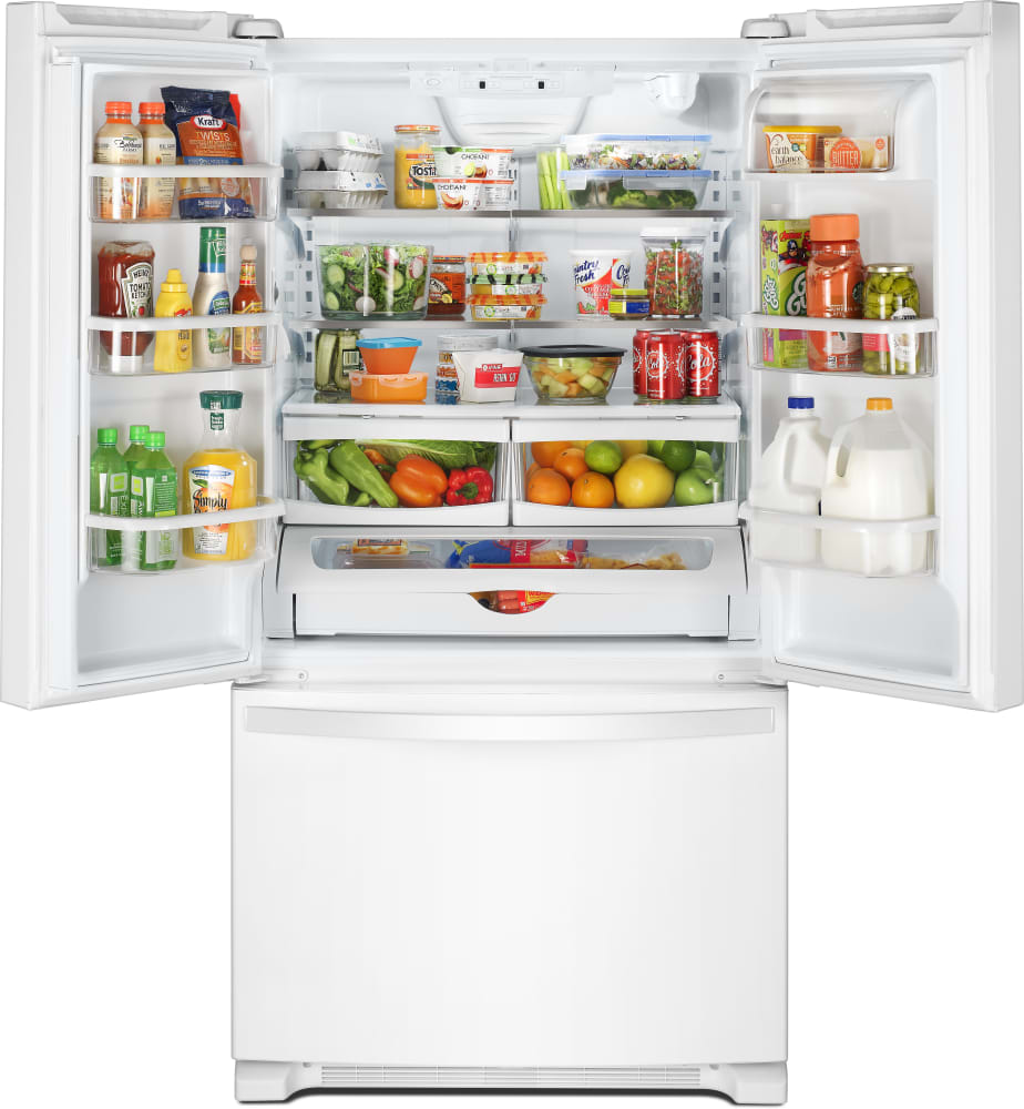 Whirlpool Wrf535swhw 36 Inch French Door Refrigerator With Interior Ice Maker Parts Diagram Further View
