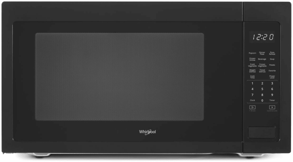 Whirlpool Wmc50522hb 2 2 Cu Ft Countertop Microwave With