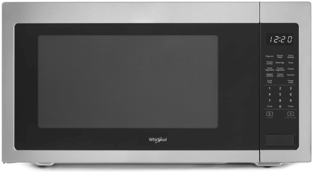 Whirlpool Wmc50522hz 2 2 Cu Ft Countertop Microwave With Sensor Cook Defrost