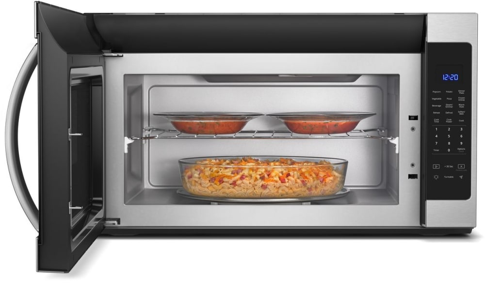 Whirlpool wmh53521hz 2 1 cu ft over the range microwave - Stainless steel microwave interior ...